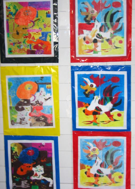 Treball en equip, puzzles Joan Miró 1r